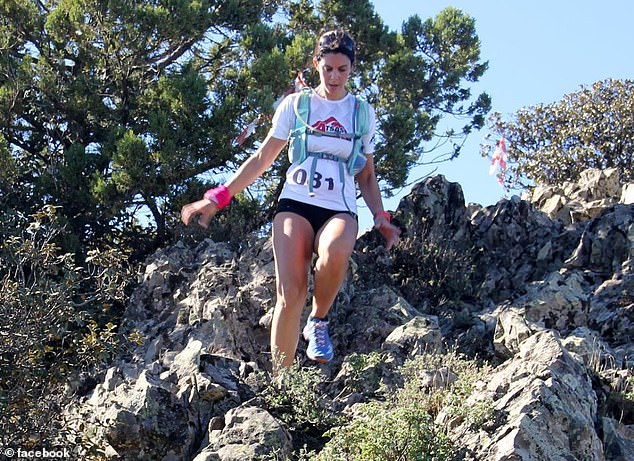 Dr Christopher taking part in a running competition - she was extremely active and ran sports camps for Cypriot girls