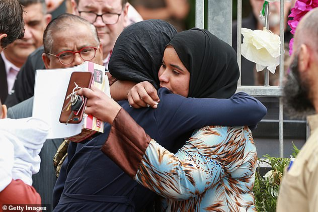 New Zealand Prime Minister, Jacinda Ardern, sympathised with those who lost loved ones in the Christchurch massacre (pictured)