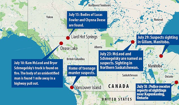The search for McLeod andSchmegelsky spanned weeks and thousands of miles