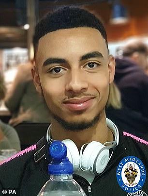 James Teer, 20, was gunned down in a drive-by shooting in Birminghamon August 8