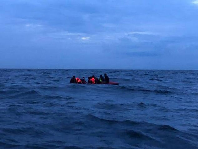 This group of 11 migrants capsized their dingy a short distance from Boulogne earlier this month