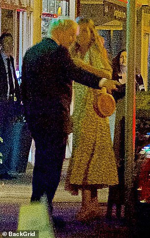Boris is now living with girlfriend Carrie Symonds (pictured with the prime minister in south-west London following a meal at an Italian restaurant)