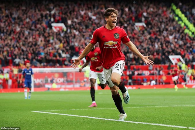 The Welshman peeled away to celebrate in front of the home fans after wrapping up a convincing victory for United