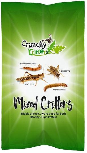 Crunchy critters, mixed 20g, £6.49, crunchycritters.com