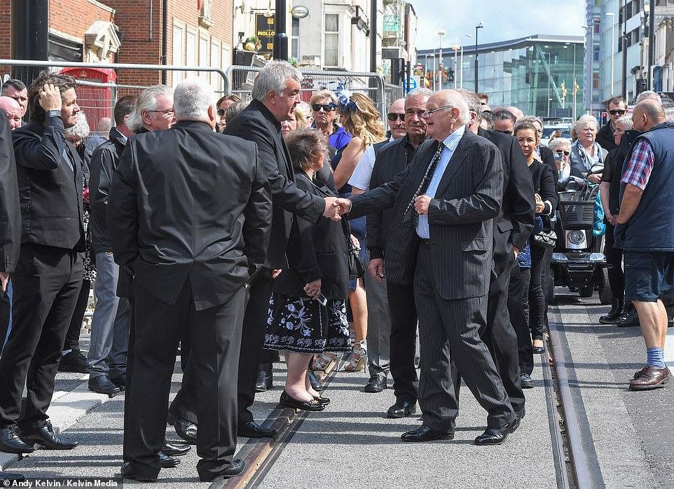 Blackpool was brought to a standstill today as friends, relatives and fans alike gathered in the town centre to pay their respects to veteran comic Joe Longthorne
