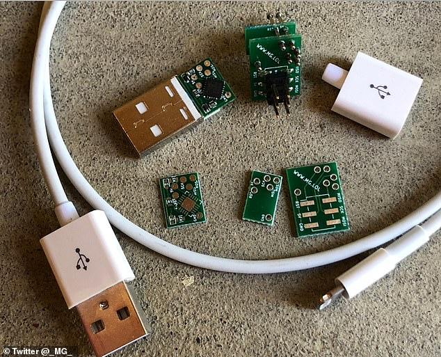 He unveiled his project at the annual Def Con hacking conference in Las Vegas, Nevada, earlier this month - explaining that he spent thousands of dollars in the process, with each doctored cable taking four hours to make