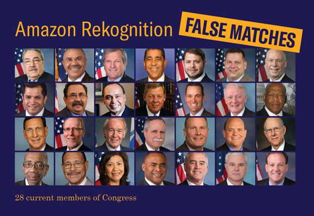 The ACLU says a test of Amazon's facial recognition software misidentified 1 in 5 lawmakers fed into its system