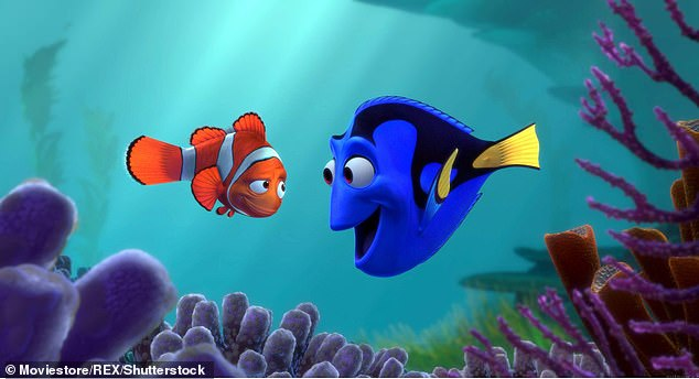 Warnings made in the wake of Finding Nemo (pictured) over people rushing out to buy the endangered species as pets were largely unfounded. The outcry even led to an appeal from one of the film's characters Little Dory asking viewers to stop buying the creatures