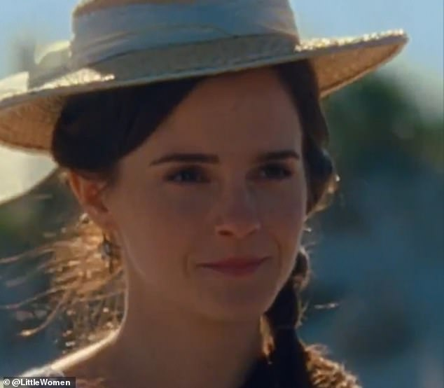 Accent problems: Emma Watson's American accent has raised eyebrows following the release of Little Women's first official trailer