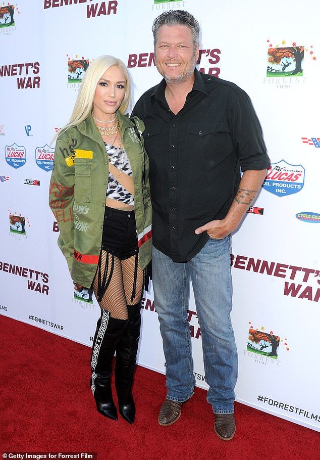 Going strong: Stefani, 49, and Shelton, 43, have been together since 2015 after parting ways from their respective spouses Gavin Rossdale and Miranda Lambert