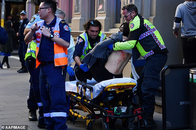 Linda Bo was stabbed in the back and was taken by ambulance from Hotel CBD at the corner of King and York Street in Sydney