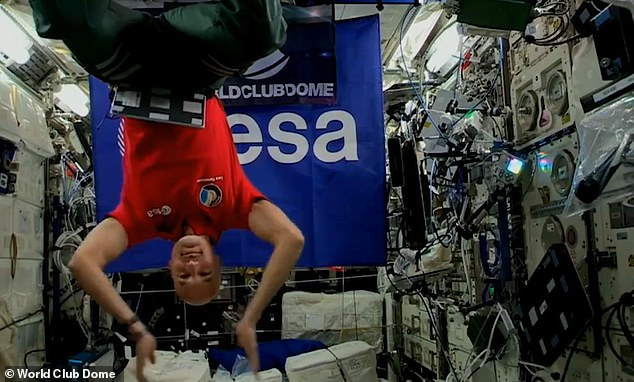 Out of this world - literally: Footage of the event shows Parmitano playing songs while weightless and literally floating through the air