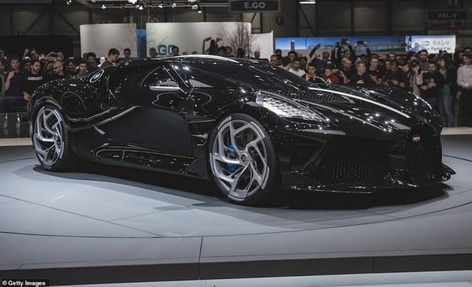 The Bugatti La Voiture Noire was first seen in public at the Geneva International Motorshow in March