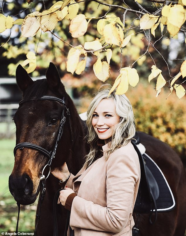 Angela said she found the strength to get back on her feet after finding a 'hobby' - horse riding