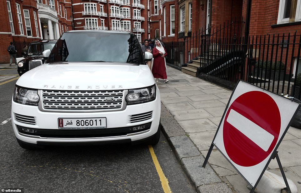 This Range Rover was imported from Qatar and is one of many impressive vehicles parked on the streets of Knightsbridge
