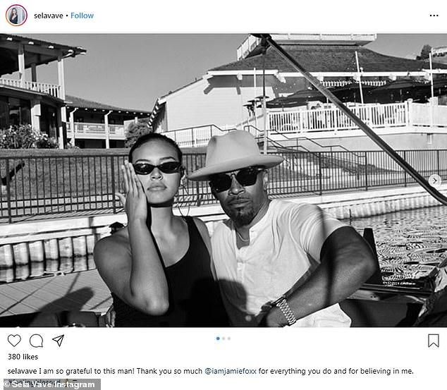 Regresan: el 30 de junio los vieron juntos en un bote. Estoy muy agradecido con este hombre! Muchas gracias @iamjamiefoxx por todo lo que haces y por creer en mí. #sentirse bendecido'