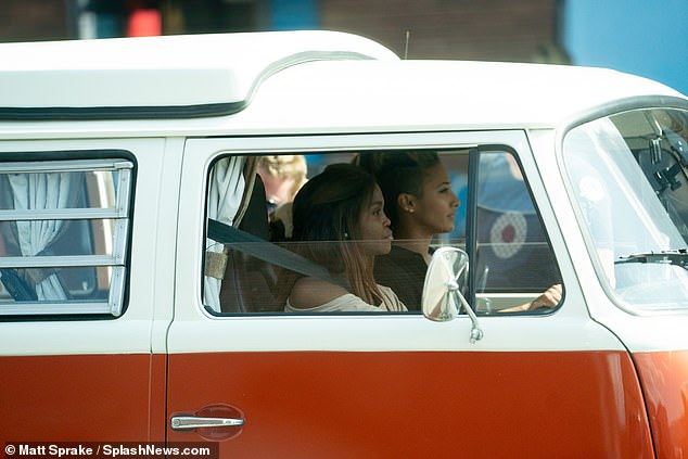 Retro: Oti Mabuse drove a VW camper towards the studios