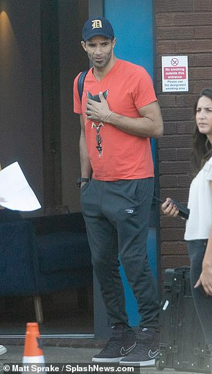 Arrivals: James carried his dancing gear in a huge bag black bag over his shoulder, as he made his way to rehearsals alongside Mike Bushell and David James