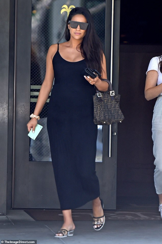 Flawless! A very pregnant Shay Mitchell stepped out in Beverly Hills on Monday to have lunch with some friends at The Palm restaurant
