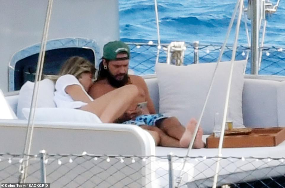 Wow: The happy couple exchanged vows aboard the Christina O yacht alongside their family and friends, and the pair were bursting with joy after the ceremony. The yacht has hosted the nuptials of Princess Grace Kelly and Prince Rainier III