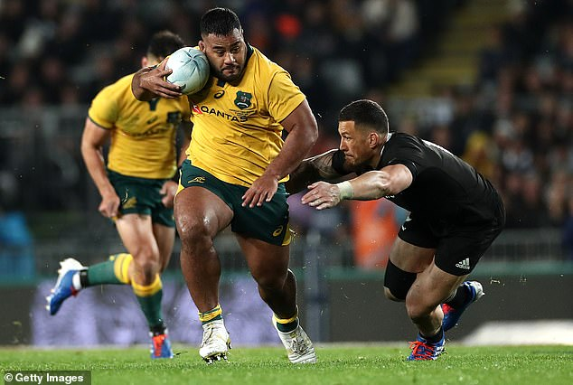 Australia prop Taniela Tupou is built like a bowling ball and skittles defenders for fun