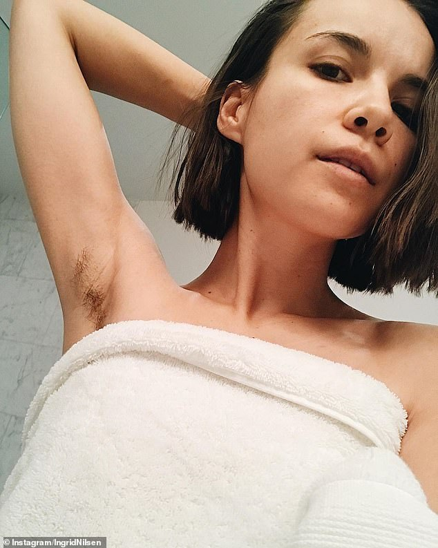 Over it: Ingrid, pictured in November 2018, explained in February that she had been exploring her relationship with body hair for about nine months and had stopped shaving and waxing