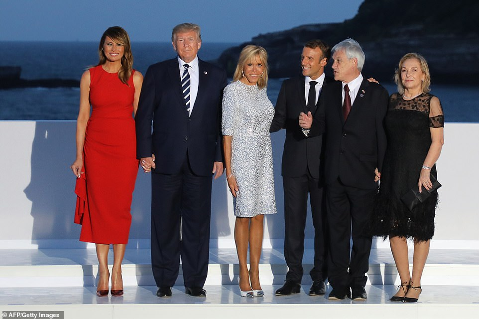Melania Trump wore a stunning sleeveless Alexander McQueen frock with a $2,375 price tag for night two of the G7 summit