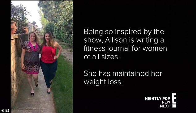 Fitness journal: Allison was so inspired by the show that she's writing a fitness journal for women