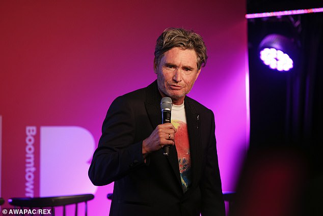 Teased: On Wednesday, comedian Dave Hughes (pictured) revealed his daughter Tess, 6, teases him about his grey hair