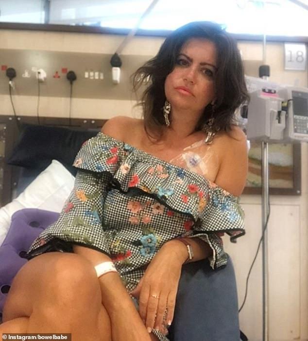 A recent photo of Deborah receiving treatment at the Royal Marsden Hospital in London