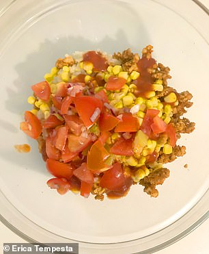 Comfort foods! Other dinners included taco bowls (pictured) and a low-fat Shepard's pie