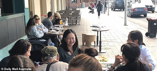 Looker: 'They were sitting down having lunch and talking and had some drinks, quite relaxed. I remember I saw her and thought she's very pretty,' they said