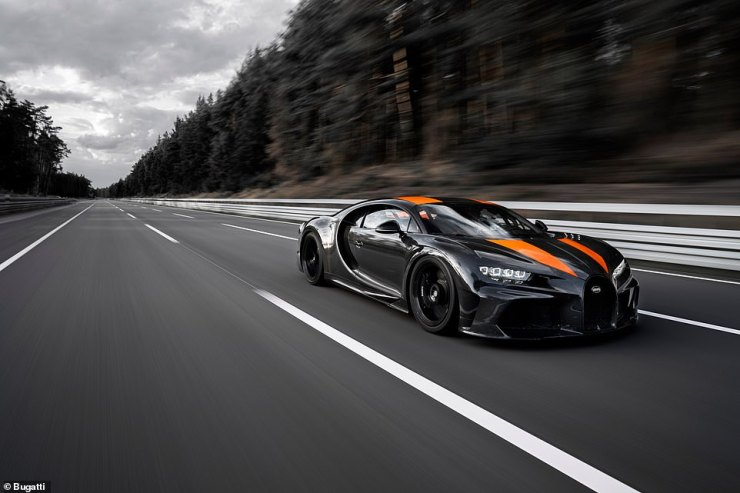 Bugatti said in 2017 that it couldn't complete the two runs at the VW test track in Germany because driving the car at such excessive speeds in the opposite direction would go against the grain of the surface, which could cause the tyres to overheat and explode