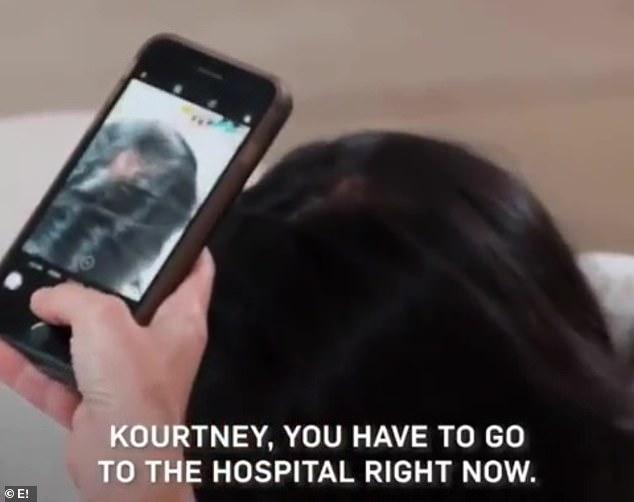 L'aspirant avocat haleta: 'Kourtney, tes cheveux sont partis! Tu es chauve. Tu dois aller à l'hôpital tout de suite '