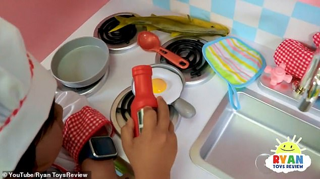 A typical video shows Ryan whipping up some make-believe food in his toy kitchen