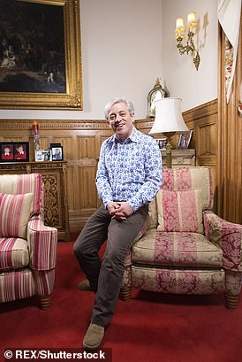 John Bercow pictured in his apartment at Speaker's House
