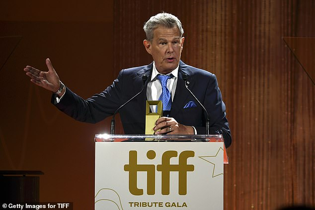Special tribute: David Foster accepts a TIFF Special Tribute award