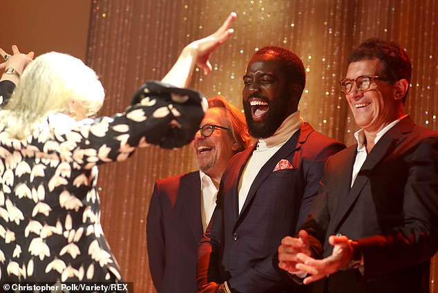 Meryl entertains: Meryl Streep entertainsGary Oldman, Meryl Streep, Shamier Anderson and Antonio Banderas