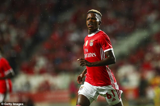 Benfica midfielder Florentino Luis draws the attention of Man United and Man City