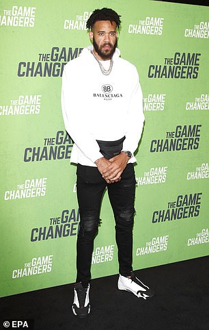 JaVale McGee attends the premiere