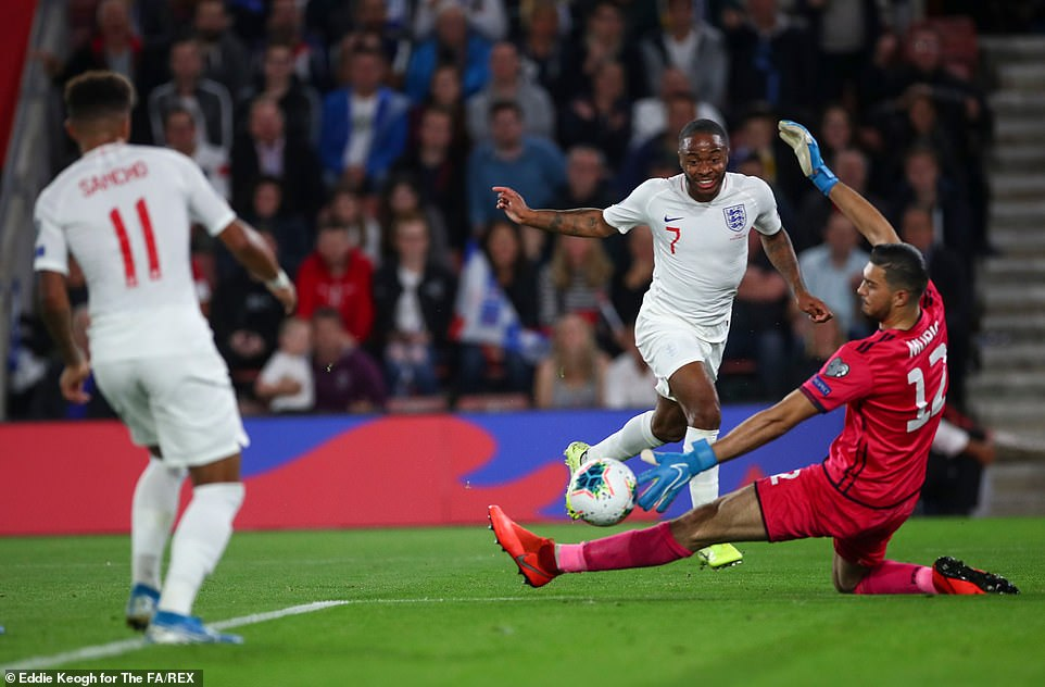 Sterling, who frequently threatened the Kosovo defence, did excellently before crossing for Sancho to score