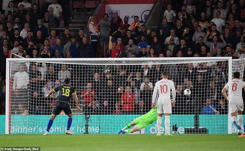 Muriqi got Kosovo's third goal from the penalty spot despite England goalkeeper Jordan Pickford getting a hand to his effort