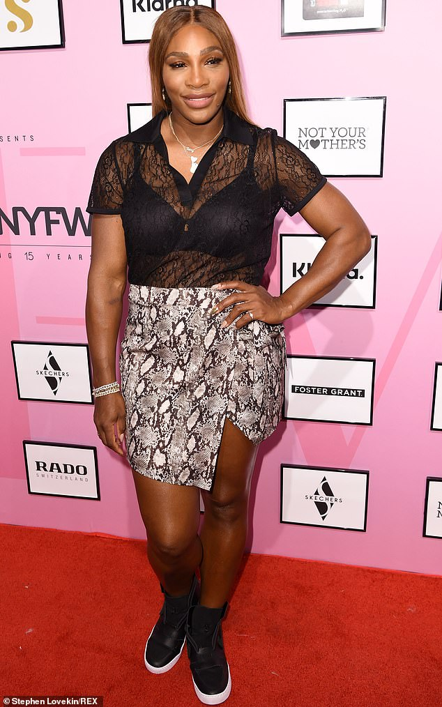 Also in animal prints: Serena launched her 'Serena by Serena Williams' line last year