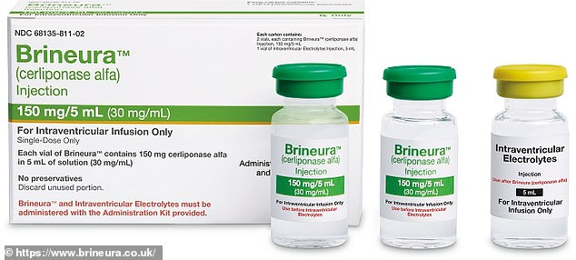 Brineura gives neuronal ceroid lipofuscinosis type II patients a synthetic version of a crucial enzyme they are missing that is required for healthy brain function