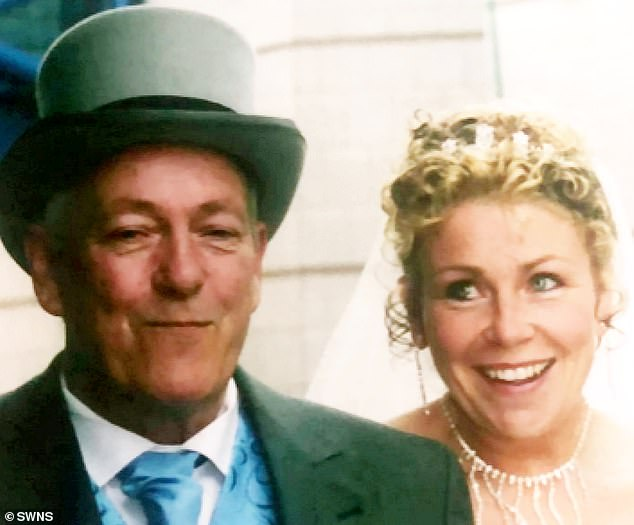 Mr Pearce's wife of 50 years Jacqueline (pictured on their wedding day) claims she called the hospital to check on his progress and was led to believe he was having routine tests