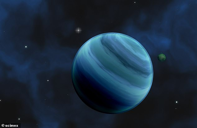 A computer-generated image has been released by UCL researchers to suggest what the potentially-habitable planet looks like