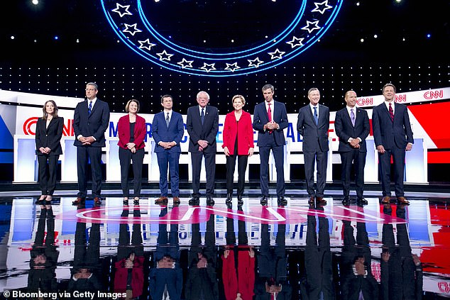 Thursday's debate will be one-night with 10 candidates compared to the last debate in Detroit (above), which was two nights with 20 candidates