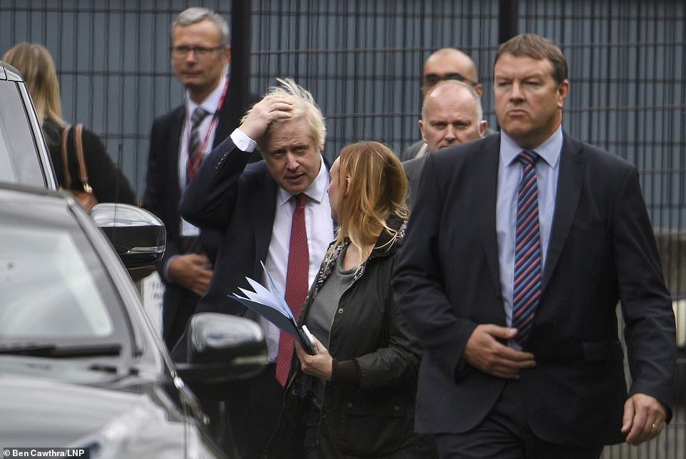 Boris Johnson (pictured in London yesterday) suffered another setback as Scottish judges ruled his suspension of Parliament is unlawful. The case is expected to be appealed further at the Supreme Court