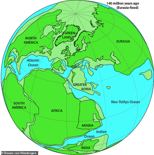 Greater Adria would have been attached to the north side of the prehistoric supercontinent of Gondwana, which was made up of almost the entire modern world – land masses which are now Africa, Antarctica, South America, Australia and parts of the Middle East and Asia