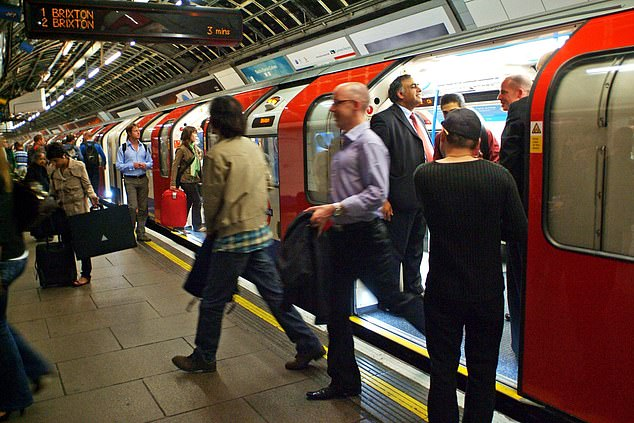 Members of the Rail, Maritime and Transport union on the Jubilee, Central, Northern and Victoria lines backed the move by more than 95 per cent (pictured, the Victoria Line)